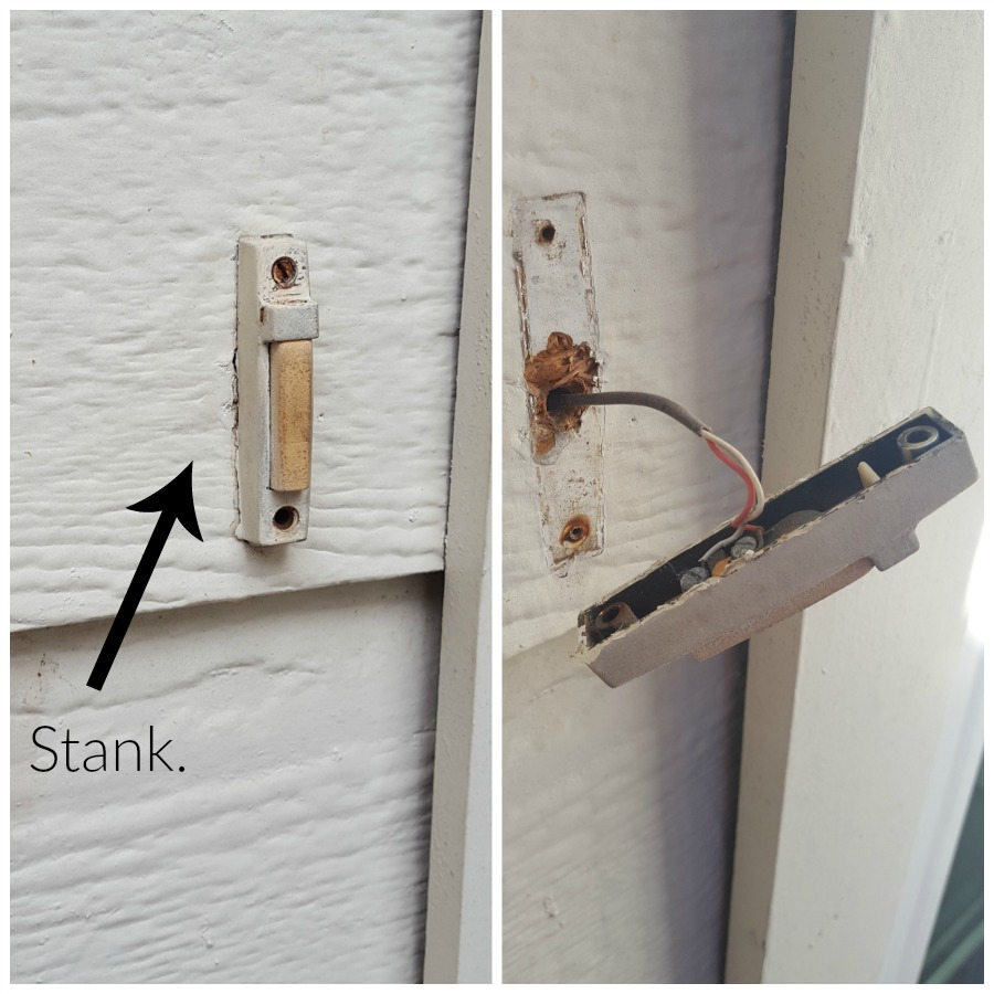 Replacing an old wired doorbell button