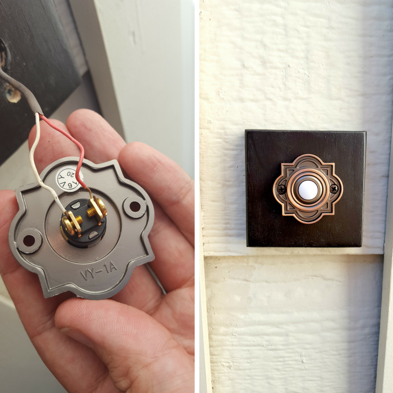 Easy Scrap Wood Project. Frame door bell button when replacing